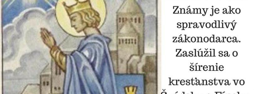 30.8. Sv. Erik, kráľ Švédska