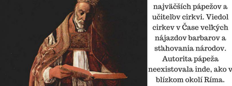 3.9. sv. Gregor Veľký, pápež a učiteľ cirkvi