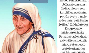 5.9. Sv. Matka Tereza, panna a rehoľníčka