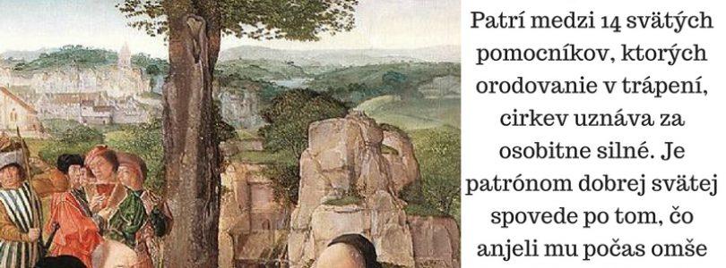 1.9. Svätý Egídius, pustovník (640 – 720)