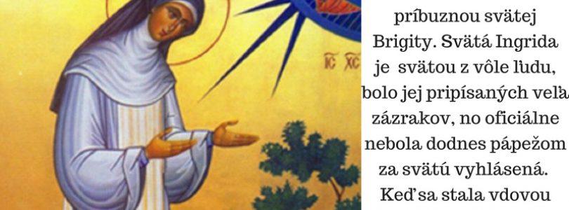 2.9. Sv. Ingrida, rehoľníčka (1220 – 1282)