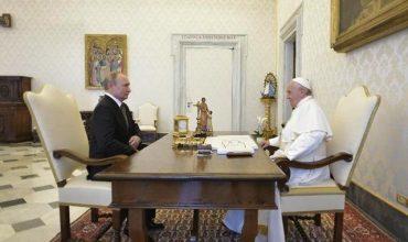 Prezident Putin už po tretíkrát navštívil pápeža Františka